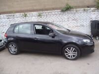 Stunning black Volkswagen GOLF SE TDI 140,5 door hatchback,6 speed manual,new shape,FSH,Sports Golf