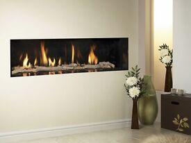 Luxury high efficiency gas fire -hole in wall style