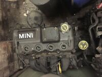 Mini Engine 1.6 Petrol for sale Spare and Repair