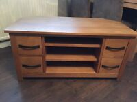 Oak TV corner unit