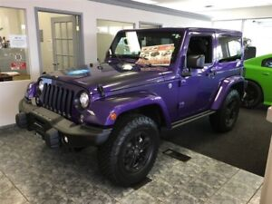 2017 Jeep Wrangler SAHARA,EXTREME PURPLE,ALLOYS,DUAL TOPS,