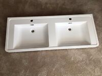 """Modern Luxury """"His & Hers"""" Double Basin 1200mm"""