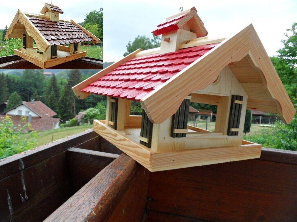 Futtersilo Futterhaus Vogelfutter Vogelhaus Vogelvilla Vogel Schreiner Holz 42cm