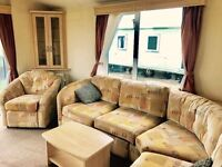 Double Glazed & Central Heated 2 bed caravan for sale at sandy bay holiday park pet friendly park