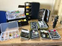 Large quantity of fly fishing hooks and equipment