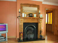 Pine Log Effect Fireplace with Inset and Grate (no hearth) For Sale £350