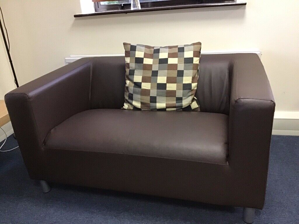 Picture of: Small Black Leather Sofa In Huntingdon Cambridgeshire Gumtree