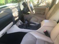 Dark blue metallic TD5, ivory leather seats, Sun roofs