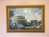 Print of the Colosseum with frame