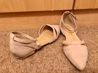Size 6 (wide fit) rose/cream sandals