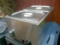 Commercial Electric Wet Bain Marie peri peri chicken, kebab food warmer