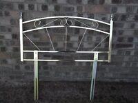 Single metal headboard