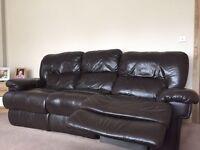 2 piece Leather sofa