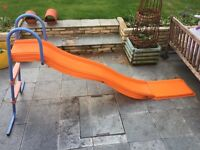 Large slide with landing strip