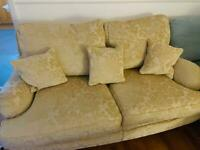 Multiyork Gold Damask 2 Seater Sofa