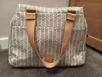Pacapod Richmond Herringbone Changing Bag Dove Grey