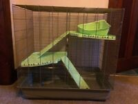 Rat / Ferret Cage - Good Condition - RRP £105+ - includes spare bedding, cleaning supplies, and toys