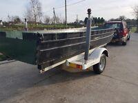 Boat aluminium ex army assault craft