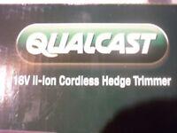 New Qualcast 18v Li-On Cordless Hedge Trimmer