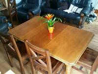 Antique oak extending table