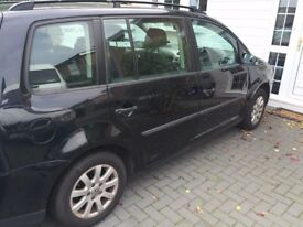 VW TOURAN 57, BLACK , NICE FAMILY CAR, QUICK SALE NEEDED