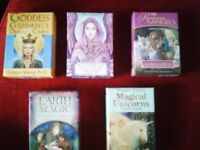 Different Packs of Oracle Cards with Books, Not Tarot! £8-£10