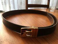 Mens Reversible Black/Brown LeatherTrouser Belt £5.