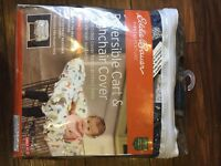 Eddie Bauer reversible cart and highchair cover, brand new