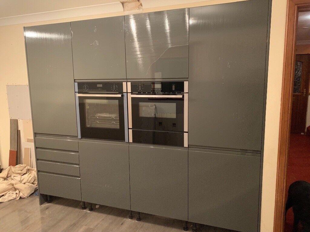 Brand Newwren Graphite Grey Kitchen 4 Tall Units Plus