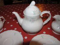Royal Doulton Valencia Mouselle Collection English Tea Set