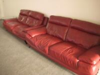 3 Seater X2, harveys leather sofas in good condition still with remaining 6 months warranty