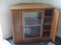 Corner television cabinet.