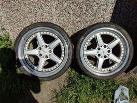 """2 19"""" Ac Schnitzer wheels"""