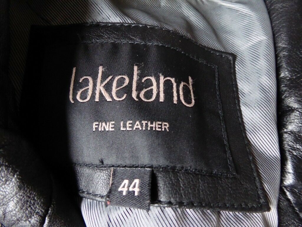 Lakeland Mens Black Leather Jacket size 44