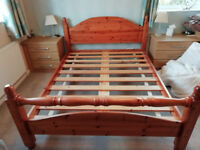 King Size very solid pine bed frame