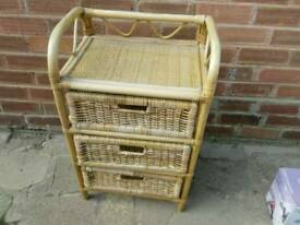 3 draw wicker unit can deliver