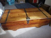 Large wooden box/coffee table