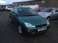 2001 FORD FOCUS IN NICE CLEAN CONDITION LOVELY DRIVER IN METALLIC GREEN CLOTH INTERIOR MOT ANYTRIAL
