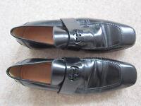 'Gucci' men's casual/smart black shoes size UK10 -worn short time