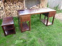 Margaret Muir solid wood luxury dark office desk and stool set MARGARETMUIR