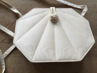 Jim Thompson cream silk bag, as new