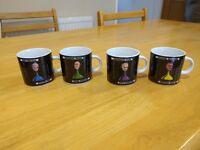 4 cluedo espresso cups