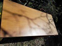 Oak colour desk with draws