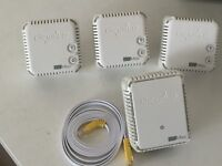 Four Devolo broadband extenders and inthernet cable. 500 Mbps.