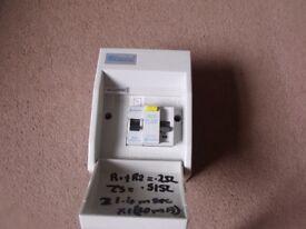 Newlec NLCU2PRC shower consumer unit