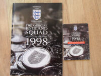 The Official England Squad 23 + Final Five Medal Coin Collection 1998 FIFA Football World Cup