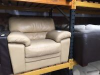 Cream single armchair