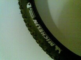 Mountain bike tires and seat
