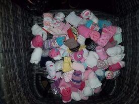 Baby Girls Bundle Hats Bibs Socks Cardigans