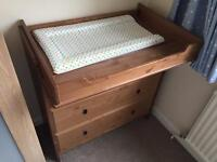 IKEA Leksvik baby changing unit - Solid Wood